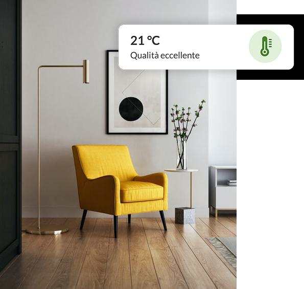 monitoraggio qualità dell'aria in abitazione privata
